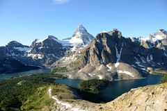 Terrapin Mountain, Mount Magog, Mount Assiniboine, Sunburst Peak, The Marshall, Lake Magog, Sunburst Lake, Cerulean Lake Early Morning From the Nublet